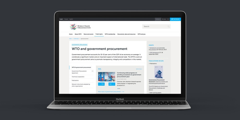 World Trade Organization Website